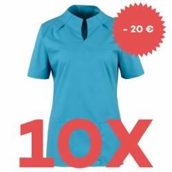 SPARSET: 10x Damen -  Kasack 2373 von BEB / Farbe: dunkeltürkis - | MEIN-KASACK.de | kasack | kasacks | kassak | berufsb