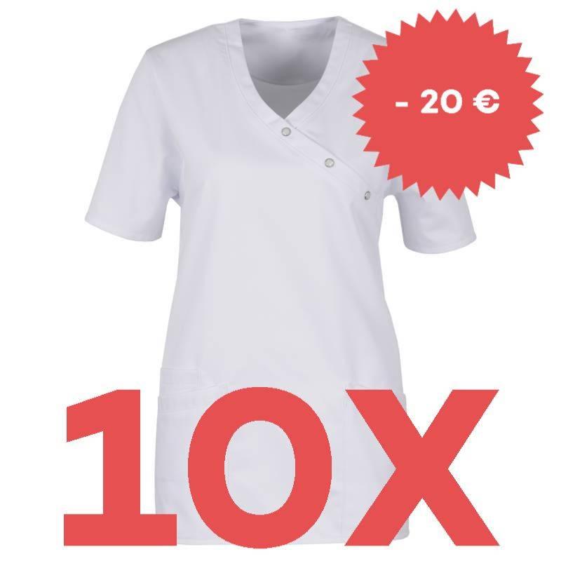 SPARSET: 10x Damen -  Kasack 941 von BEB / Farbe: weiß - | MEIN-KASACK.de | kasack | kasacks | kassak | berufsbekleidung