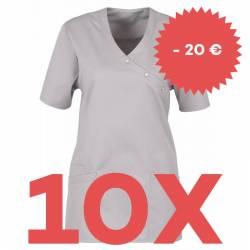 SPARSET: 10x Damen -  Kasack 941 von BEB / Farbe: virtual grey - | MEIN-KASACK.de | kasack | kasacks | kassak | berufsbe