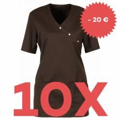 SPARSET: 10x Damen -  Kasack 941 von BEB / Farbe: chocolate brown - | MEIN-KASACK.de | kasack | kasacks | kassak | beruf