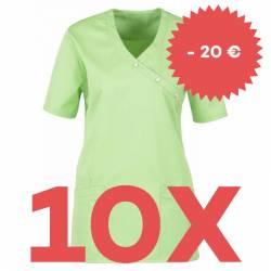 SPARSET: 10x Damen -  Kasack 941 von BEB / Farbe: apple - | MEIN-KASACK.de | kasack | kasacks | kassak | berufsbekleidun