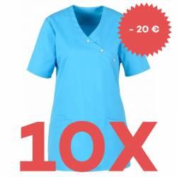 SPARSET: 10x Damen -  Kasack 941 von BEB / Farbe: türkis - | MEIN-KASACK.de | kasack | kasacks | kassak | berufsbekleidu