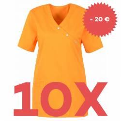 SPARSET: 10x Damen -  Kasack 941 von BEB / Farbe: orange - | MEIN-KASACK.de | kasack | kasacks | kassak | berufsbekleidu