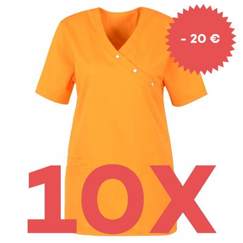 SPARSET: 10x Damen -  Kasack 941 von BEB / Farbe: orange -   MEIN-KASACK.de   kasack   kasacks   kassak   berufsbekleidu