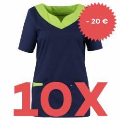 SPARSET: 10x Damen -  Kasack 2436 von BEB / Farbe: marine-limette-apple / Stretchgewebe - | MEIN-KASACK.de | kasack | ka
