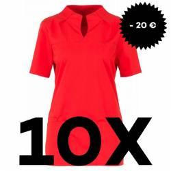SPARSET: 10x Damen -  Kasack 2369 von BEB / Farbe: rot - | MEIN-KASACK.de | kasack | kasacks | kassak | berufsbekleidung