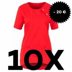 SPARSET: 10x Damen -  Kasack 2373 von BEB / Farbe: rot - | MEIN-KASACK.de | kasack | kasacks | kassak | berufsbekleidung