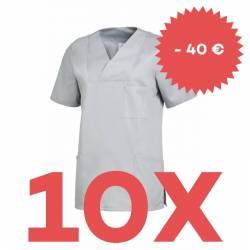 SPARSET: 10x Damen -  Schlupfjacke 2732 von LEIBER / Farbe: grau - | MEIN-KASACK.de | kasack | kasacks | kassak | berufs