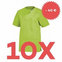 SPARSET: 10x Damen -  Schlupfjacke 2732 von LEIBER / Farbe: hellgrün - | MEIN-KASACK.de | kasack | kasacks | kassak | be