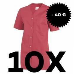 SPARSET: 10x Damen -  Kasack 2549 von Leiber / Farbe: dunkelrosa - | MEIN-KASACK.de | kasack | kasacks | kassak | berufs