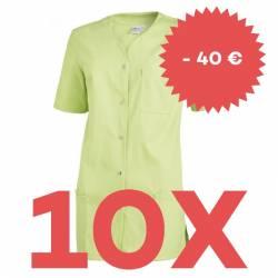 SPARSET: 10x Damen -  Kasack 2549 von Leiber / Farbe: hellgrün - | MEIN-KASACK.de | kasack | kasacks | kassak | berufsbe