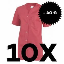 SPARSET: 10x Damen -  Kasack 2549 von Leiber / Farbe: rot - | MEIN-KASACK.de | kasack | kasacks | kassak | berufsbekleid
