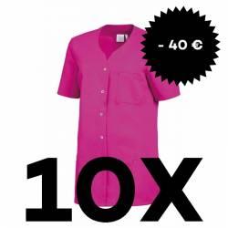 SPARSET: 10x Damen -  Kasack 2549 von Leiber / Farbe: fuchsia - | MEIN-KASACK.de | kasack | kasacks | kassak | berufsbek