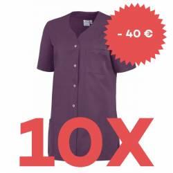 SPARSET: 10x Damen -  Kasack 2549 von Leiber / Farbe: pflaume - | MEIN-KASACK.de | kasack | kasacks | kassak | berufsbek