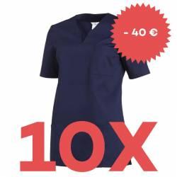 SPARSET: 10x Damen -  Schlupfjacke 1249 von LEIBER / Farbe: marine - | MEIN-KASACK.de | kasack | kasacks | kassak | beru
