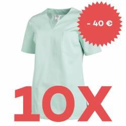 SPARSET: 10x Damen -  Schlupfjacke 1249 von LEIBER / Farbe: mint - | MEIN-KASACK.de | kasack | kasacks | kassak | berufs