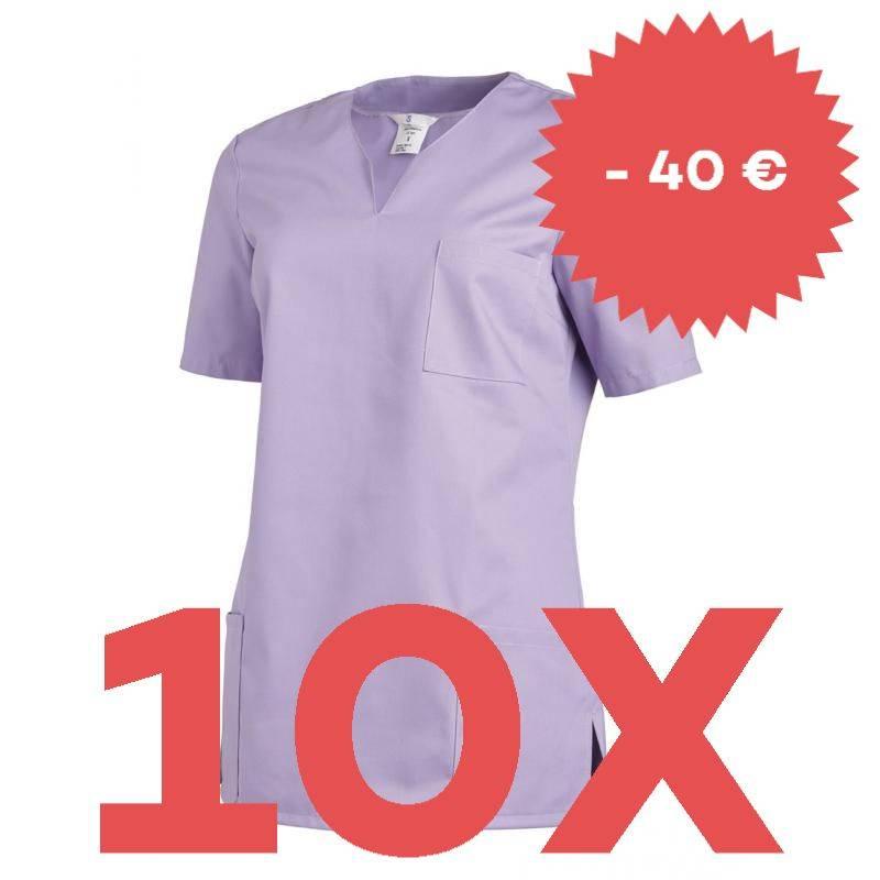 SPARSET: 10x Damen -  Schlupfjacke 1249 von LEIBER / Farbe: flieder - | MEIN-KASACK.de | kasack | kasacks | kassak | ber