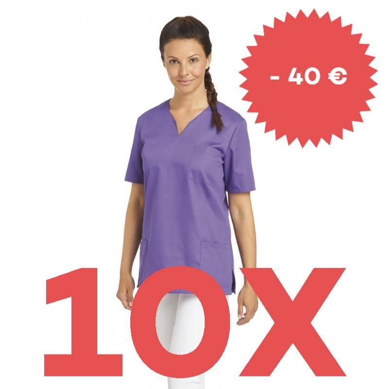 SPARSET: 10x Damen -  Schlupfjacke 1249 von LEIBER / Farbe: lila - | MEIN-KASACK.de | kasack | kasacks | kassak | berufs