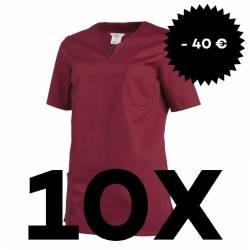 SPARSET: 10x Damen -  Schlupfjacke 1249 von LEIBER / Farbe: beere - | MEIN-KASACK.de | kasack | kasacks | kassak | beruf