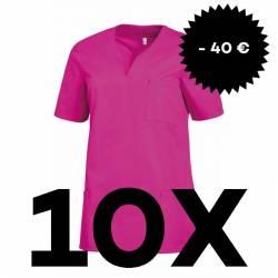 SPARSET: 10x  Damen -  Schlupfjacke 1249 von LEIBER / Farbe: fuchsia - | MEIN-KASACK.de | kasack | kasacks | kassak | be