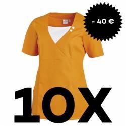 SPARSET: 10x Damen -  Schlupfjacke 2517 von LEIBER / Farbe: sun (orange) - | MEIN-KASACK.de | kasack | kasacks | kassak