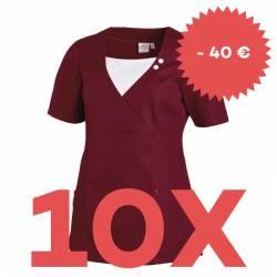 SPARSET: 10x Damen -  Schlupfjacke 2517 von LEIBER / Farbe: beere - | MEIN-KASACK.de | kasack | kasacks | kassak | beruf
