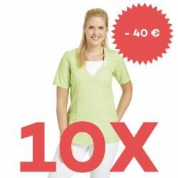 SPARSET: 10x Damen -  Schlupfjacke 2517 von LEIBER / Farbe: hellgrün - | MEIN-KASACK.de | kasack | kasacks | kassak | be