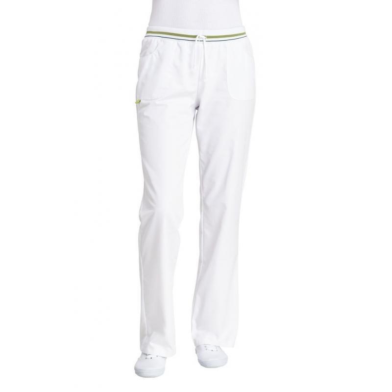 Damenhose 1650 von LEIBER / Farbe: weiß-grün / 50 % Baumwolle 50 % Polyester - | MEIN-KASACK.de | kasack | kasacks | kas