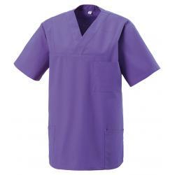 Damen -  Kasack 273 von EXNER / Farbe: purple / 50% Baumwolle 50% Polyester 175 gr. - | MEIN-KASACK.de