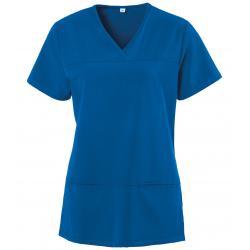 Damen -  Kasack 280 - X-TOP von EXNER / Farbe: royal blau / 73% Polyester, 22% Viscose, 5% Spandex, 180 g - | MEIN-KASAC