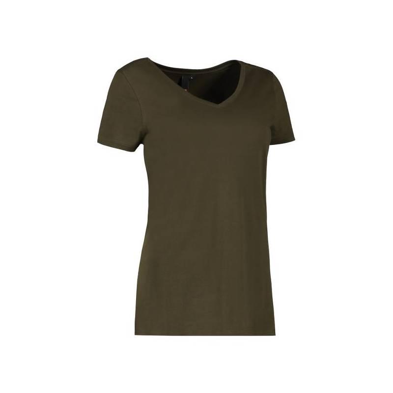 CORE V-Neck Tee Damen T-Shirt 543 von ID / Farbe: oliv / 90% BAUMWOLLE 10% VISKOSE - | MEIN-KASACK.de | kasack | kasacks
