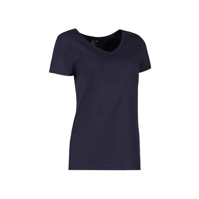 CORE V-Neck Tee Damen T-Shirt 543 von ID / Farbe: navy / 90% BAUMWOLLE 10% VISKOSE - | MEIN-KASACK.de | kasack | kasacks