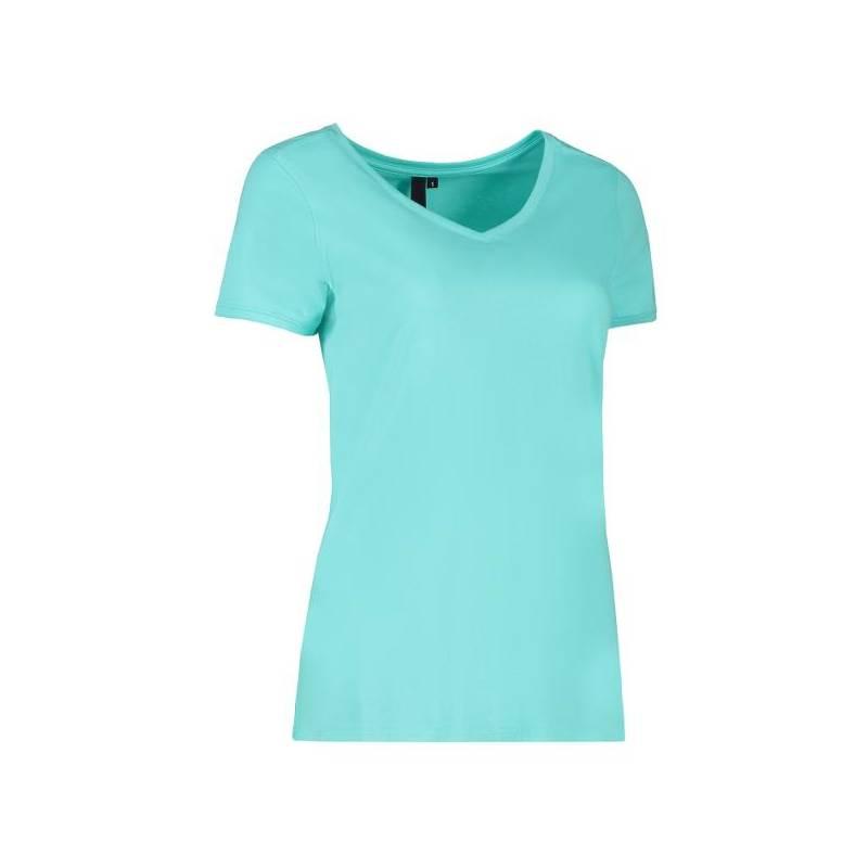 CORE V-Neck Tee Damen T-Shirt 543 von ID / Farbe: mint / 90% BAUMWOLLE 10% VISKOSE - | MEIN-KASACK.de | kasack | kasacks