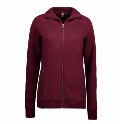 Full Zip Damen Sweat | 629 von ID / Farbe: bordeaux / 60% BAUMWOLLE 40% POLYESTER - | MEIN-KASACK.de | kasack | kasacks
