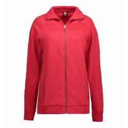 Full Zip Damen Sweat | 629 von ID / Farbe: rot / 60% BAUMWOLLE 40% POLYESTER - | MEIN-KASACK.de | kasack | kasacks | kas