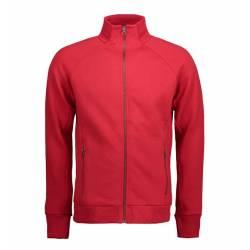 Full Zip Sweat | 628 von ID / Farbe: rot / 60% BAUMWOLLE 40% POLYESTER - | MEIN-KASACK.de | kasack | kasacks | kassak |