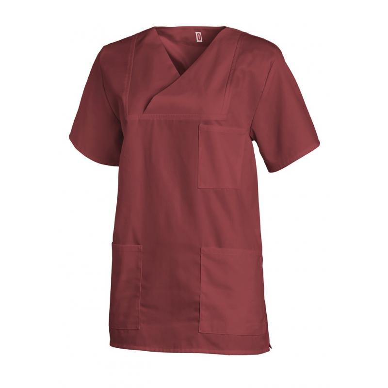 Damen-Schlupfjacke 769 von LEIBER / Farbe: bordeaux / 50 % Baumwolle 50 % Polyester - | Wenn Kasack - Dann MEIN-KASACK.d