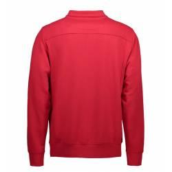 Herren Sweatshirt | 603 von ID / Farbe: rot / 75% BAUMWOLLE 15% POLYESTER 10% VISKOSE - | MEIN-KASACK.de | kasack | kasa