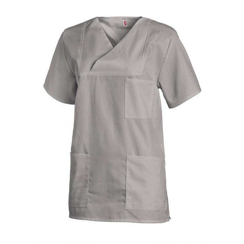 Damen-Schlupfjacke 769 von LEIBER / Farbe: hellgrau / 50 % Baumwolle 50 % Polyester - | Wenn Kasack - Dann MEIN-KASACK.d