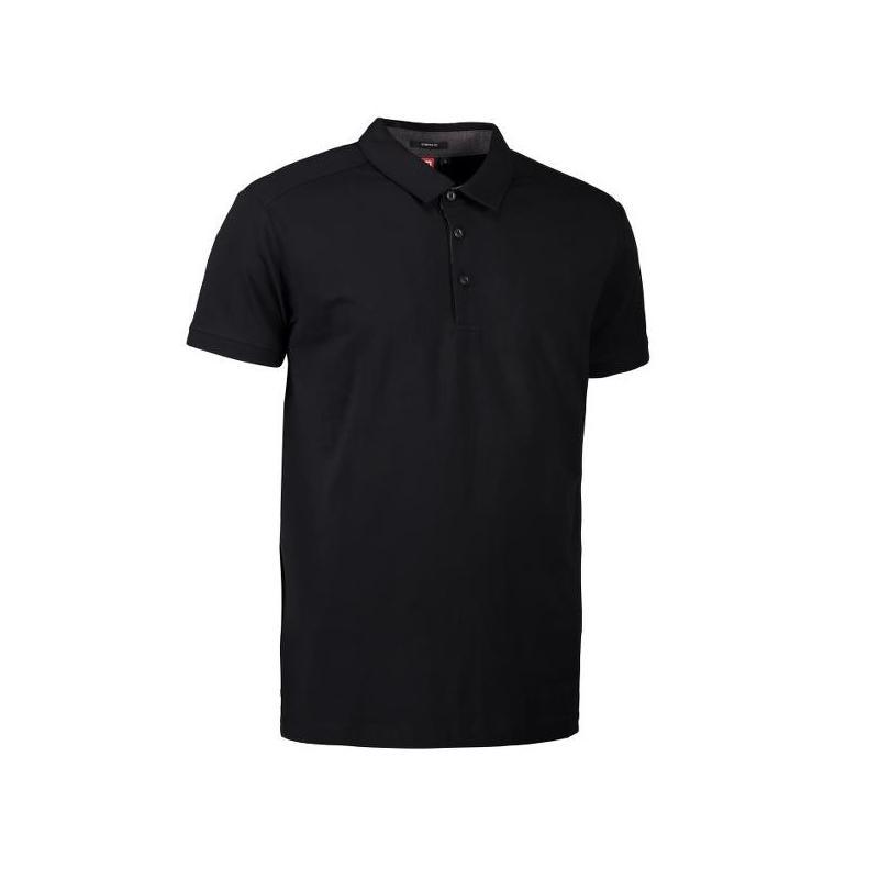 Business Herren Poloshirt | Stretch 534 von ID / Farbe: schwarz / 95% BAUMWOLLE 5% ELASTANE - | Wenn Kasack - Dann MEIN-