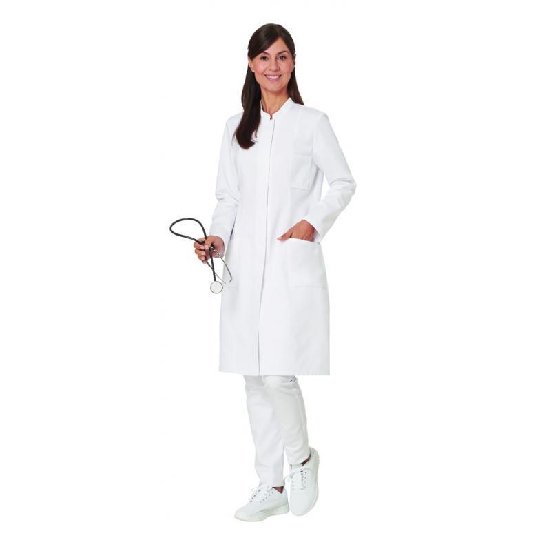 Damenmantel / Arztkittel / Laborkittel - 2663 von LEIBER / Farbe: weiß / 50 % Baumwolle 50 % Polyester - | MEIN-KASACK.d