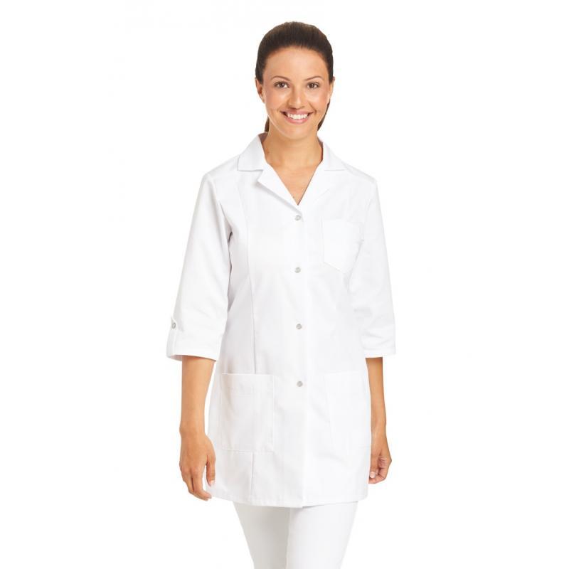Damen-Kasack / Longkasack - 347 von LEIBER / Farbe: weiß / 50 % Baumwolle 50 % Polyester - | MEIN-KASACK.de | kasack | k