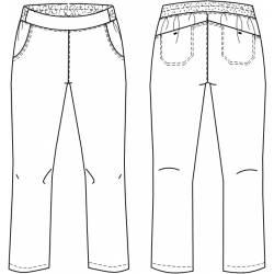 copy of Damenhose 2447 von BEB / Farbe: apple / Stretchgewebe - 49% Baumwolle 48% Polyester 3% Elasthan - 2
