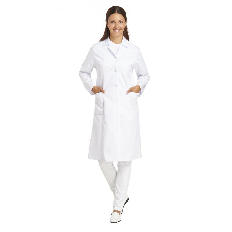 Damenmantel 491 von LEIBER / Farbe: weiß / 65 % Polyester 35 % Baumwolle - | Wenn Kasack - Dann MEIN-KASACK.de | Kasacks