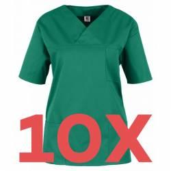 SET: 10x Damen -  Kasack 2651 von MEIN-KASACK.de und BEB / Farbe: dunkelgrün / 65%PES - 35%BW - 170g/m² - 1