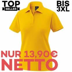 Damen-Poloshirt 983 von EXNER / Farbe: gelb / 65% Baumwolle 35% Polyester - | MEIN-KASACK.de | kasack | kasacks | kassak