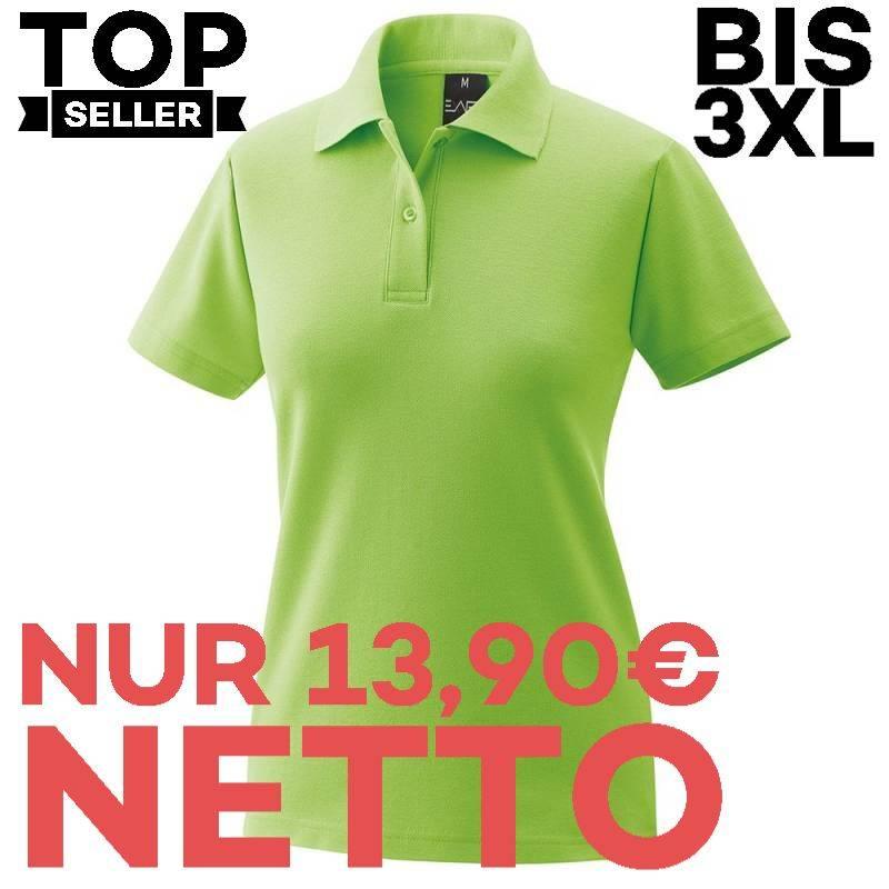 Damen-Poloshirt 983 von EXNER / Farbe: lemon green / 65% Baumwolle 35% Polyester - | MEIN-KASACK.de | kasack | kasacks |