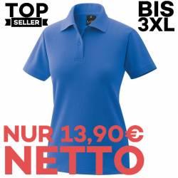 Damen-Poloshirt 983 von EXNER / Farbe: königsblau / 65% Baumwolle 35% Polyester - | MEIN-KASACK.de | kasack | kasacks |
