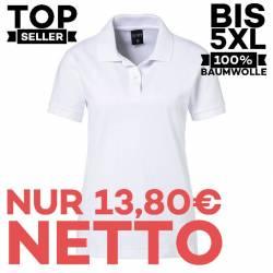 Damen-Poloshirt 983 von EXNER / Farbe: weiß / 100% Baumwolle - 1