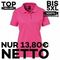 Damen-Poloshirt 983 von EXNER / Farbe: magenta / 100% Baumwolle - 1